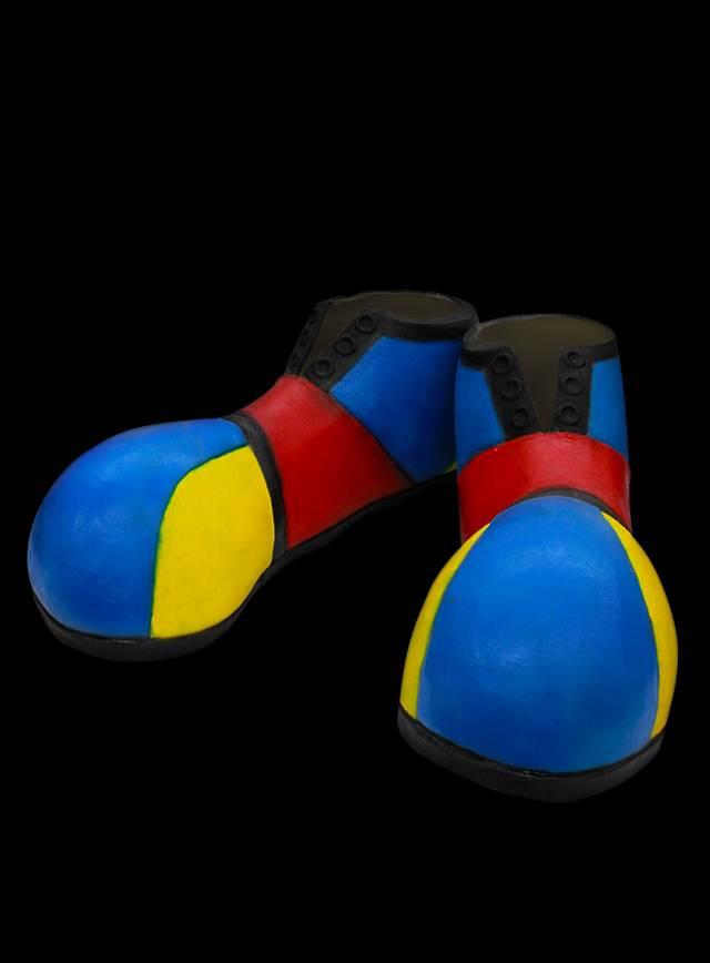 Bunte Clownschuhe Stulpen aus Latex