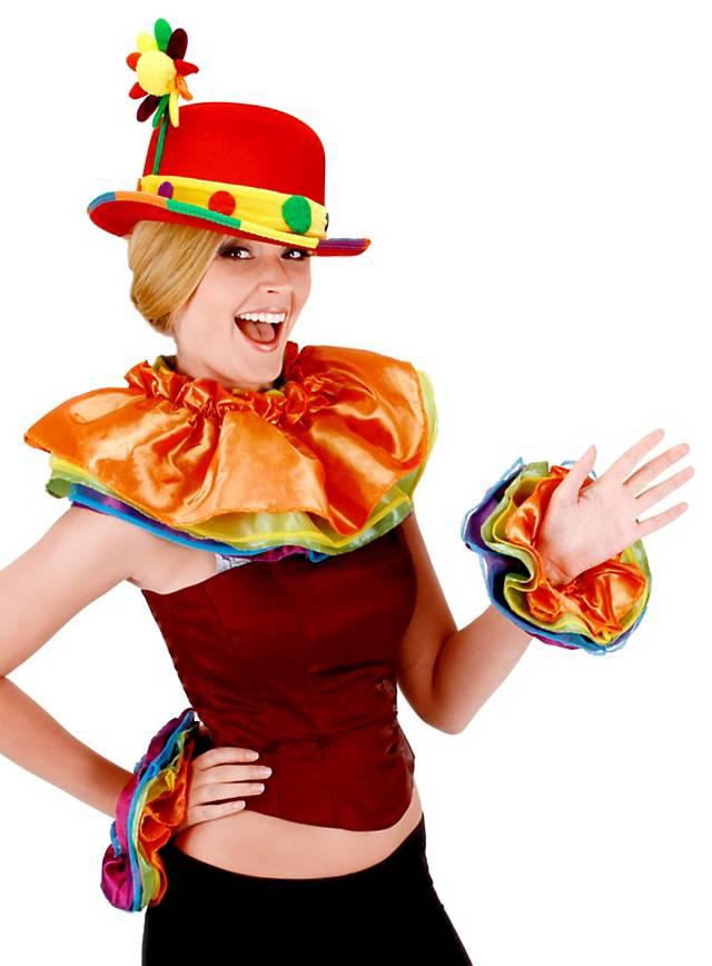 Bunter Clown Accessoire Set