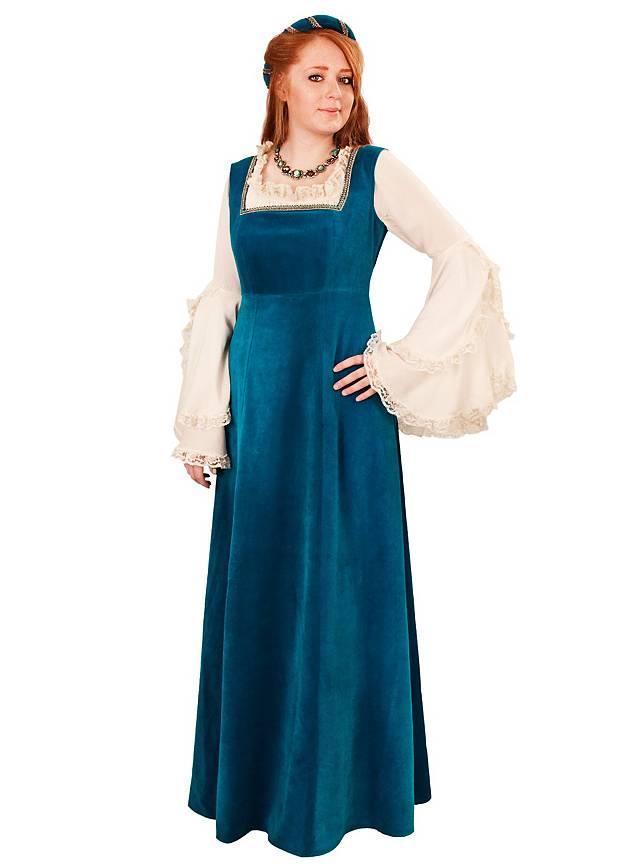 Burgherrin türkisblau Kostüm