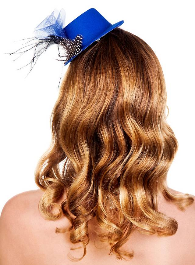 Burlesque Mini Hat Blue Maskworld Com