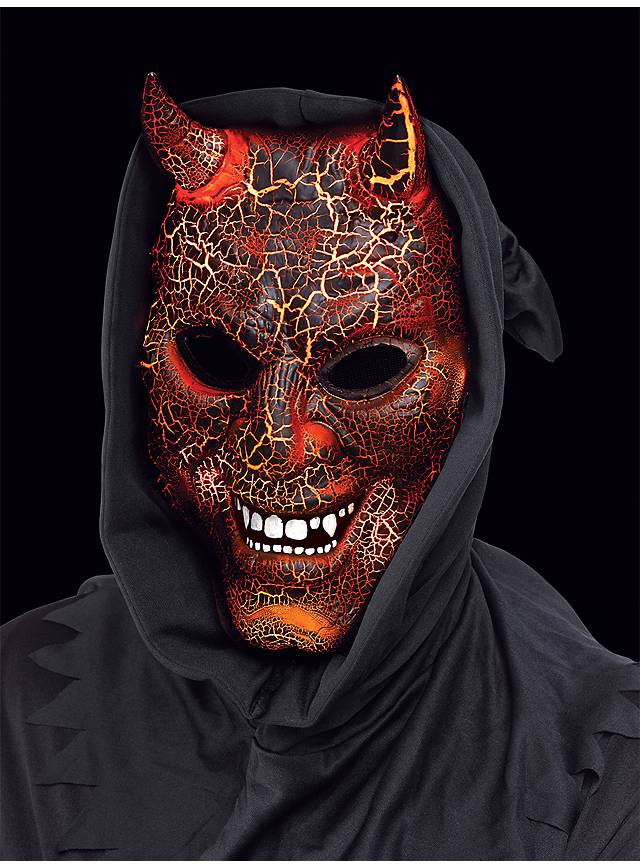 burning devil mask