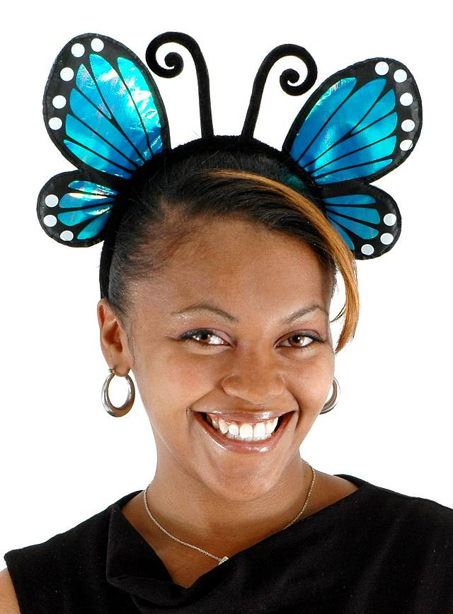 Butterfly Headband blue
