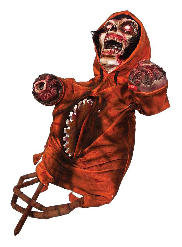 Buzz saw demon animated halloween decoration for Animated halloween decoration
