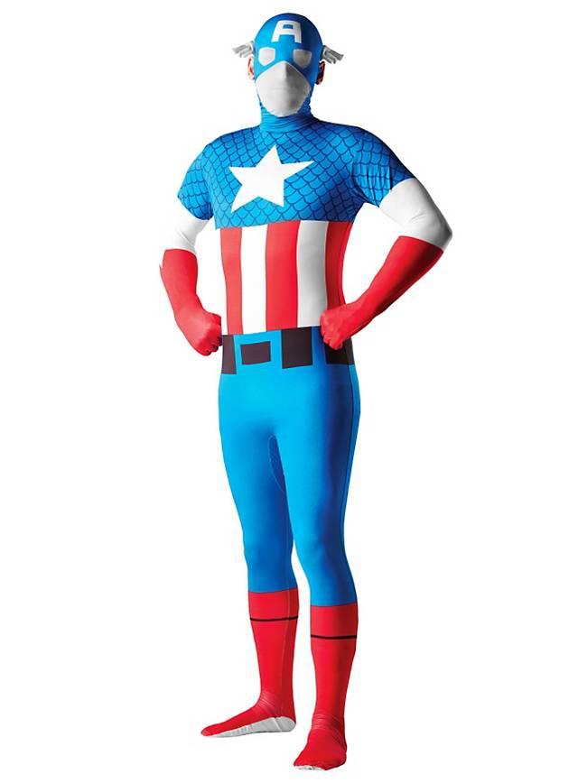 Captain America Full Body Suit