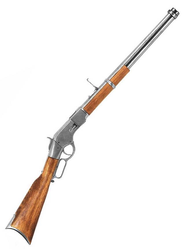 Carabine Winchester argentée Arme décorative