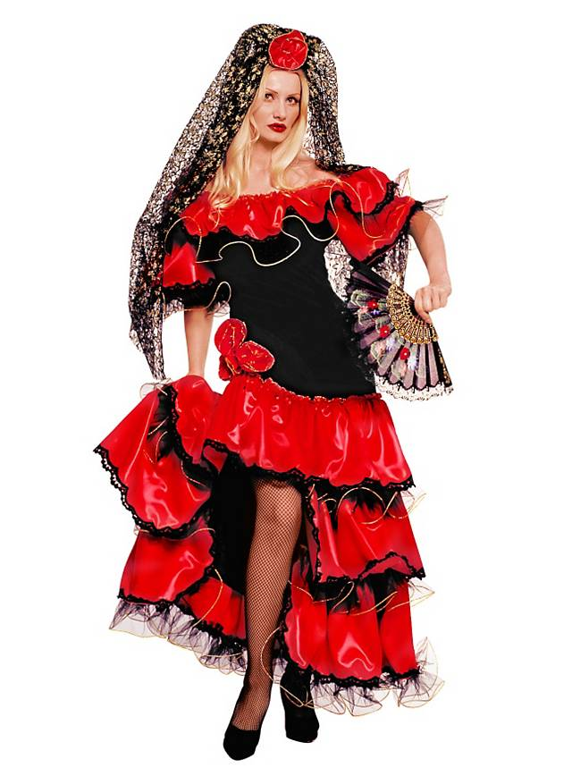 Flamencotänzerin Kostüm für Purim