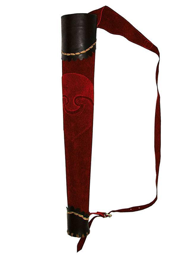 Carquois d'archer noir et rouge