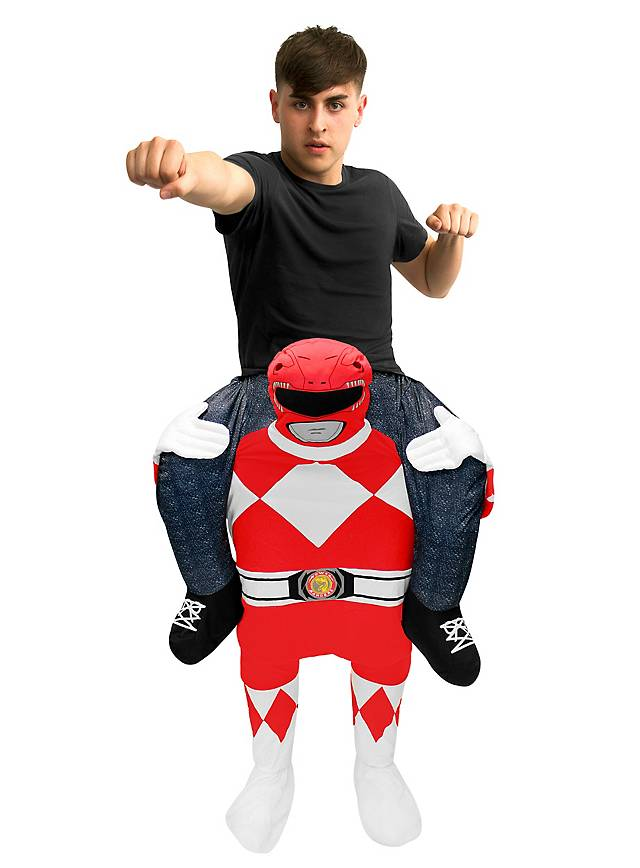 Carry Me Kostüm Roter Power Ranger