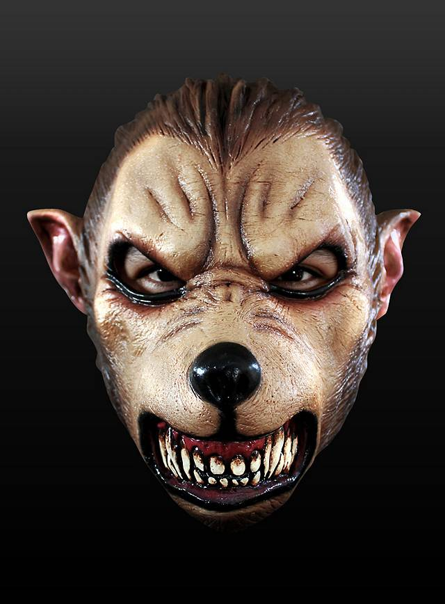 Cartoon Werwolf Maske aus Latex