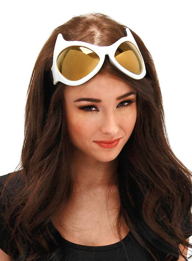 Cat Eye Goggles white