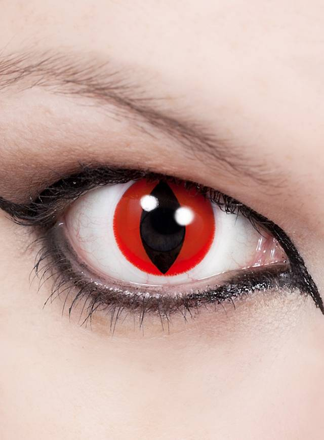 Cat Eye Red Special Effect Contact Lens Maskworld Com
