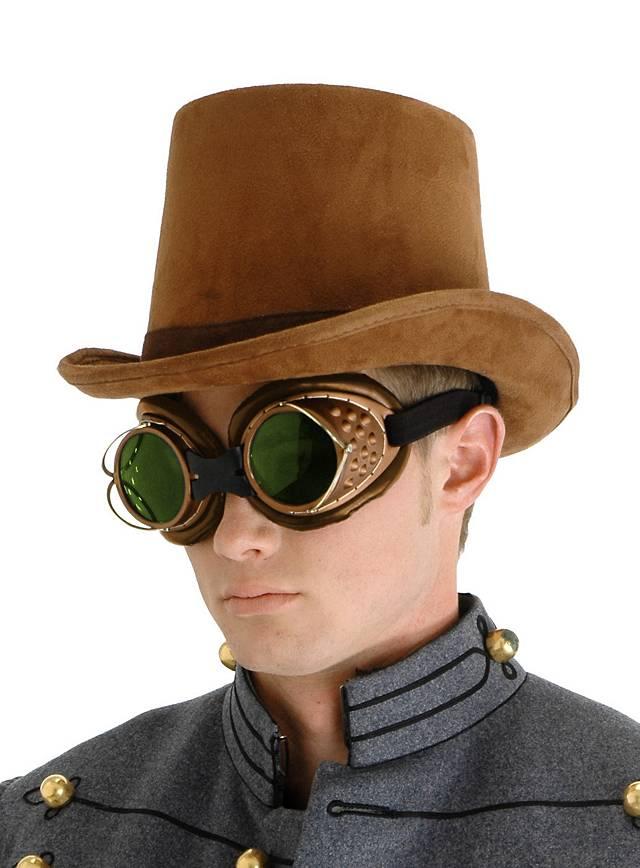 Chapeau de cocher steampunk marron