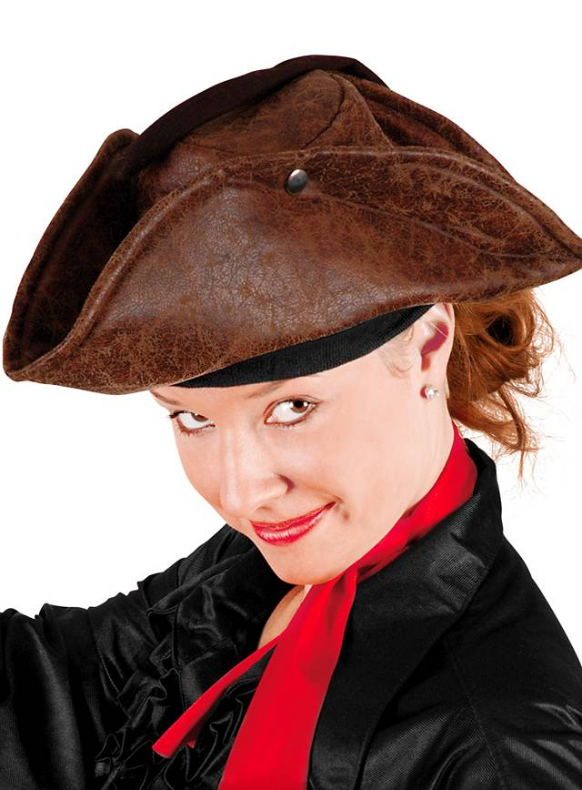 Chapeau de pirate marron