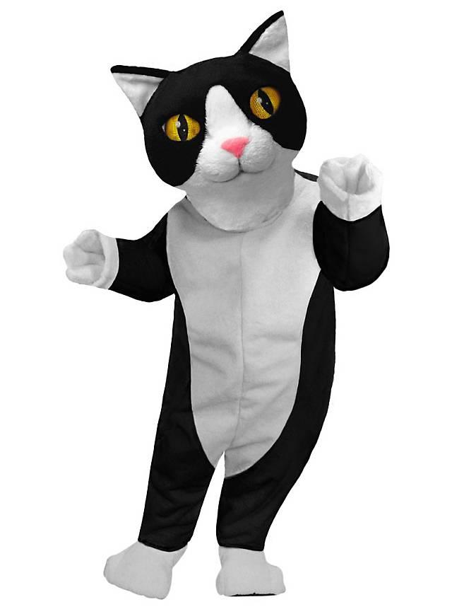 Chat blanc et noir Mascotte