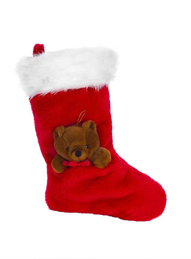 Chaussette de Noël avec nounours