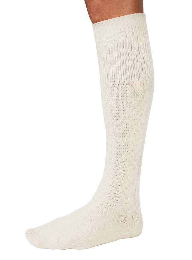 Chaussettes blanches de costume traditionnel