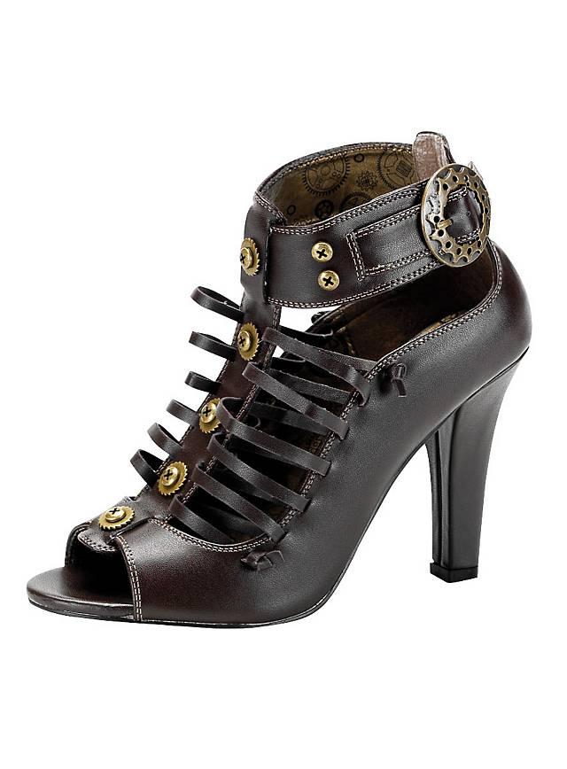 Chaussures steampunk femme marron