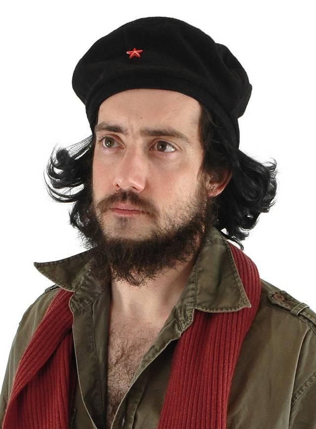Che Guevara Beret with Hair - maskworld.com 8e91f5be165