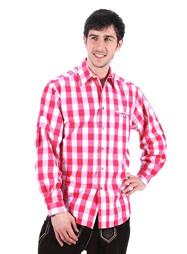 Checked Bavaria Shirt pink & white