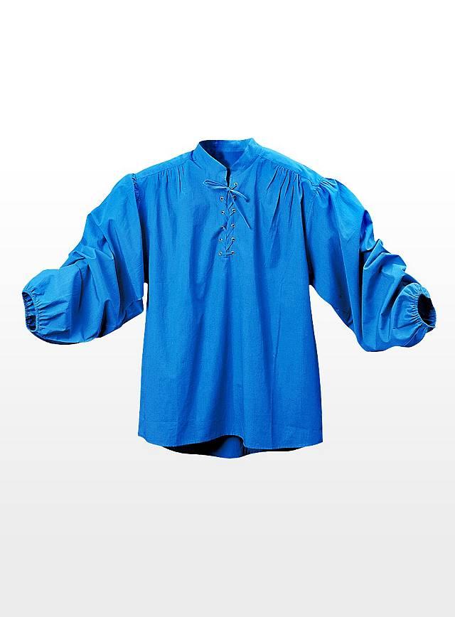 Chemise de valet bleue