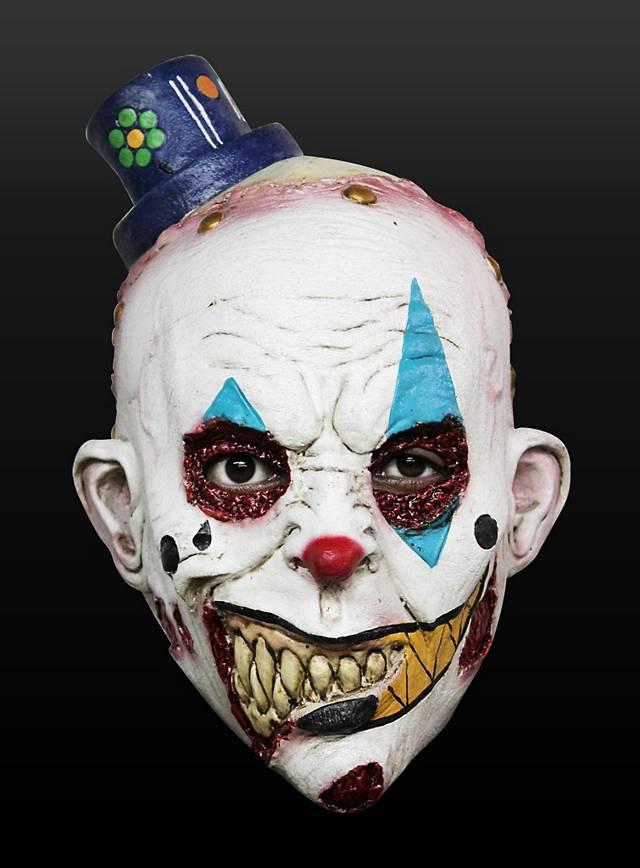 Clown Grinsekopf Kindermaske aus Latex