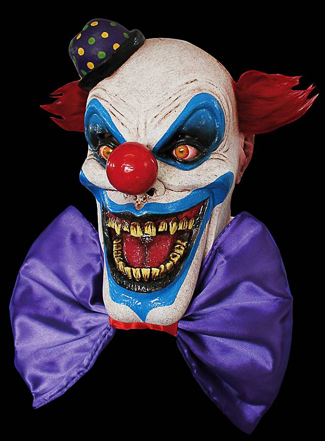 Clown mask possessed made of latex for Fotos de mascaras de terror