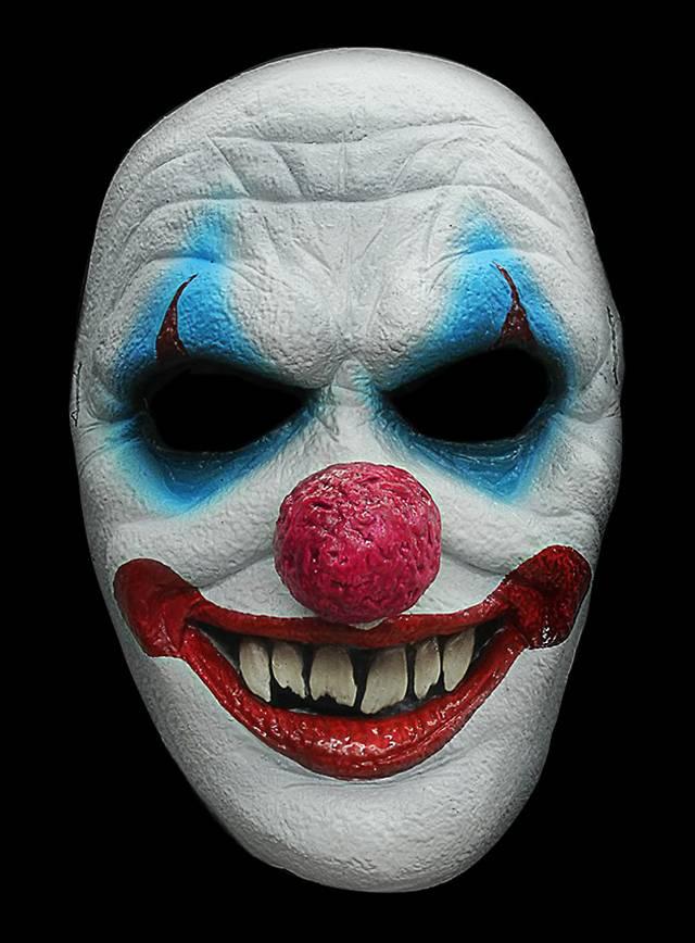 Clown Maske des Grauens aus Latex