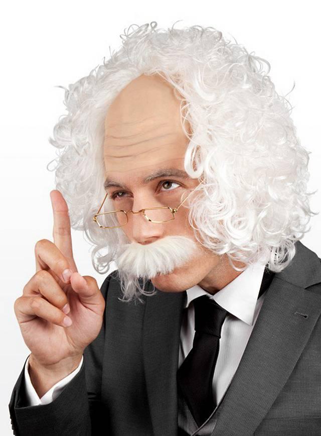 College Professor Wig Set