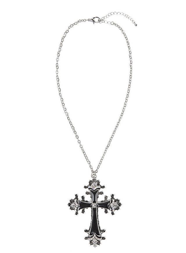 Collier croix noire
