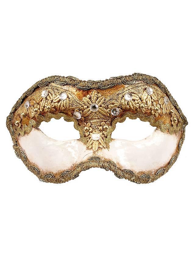 Colombina 1/2 macrame bianco - Venetian Mask