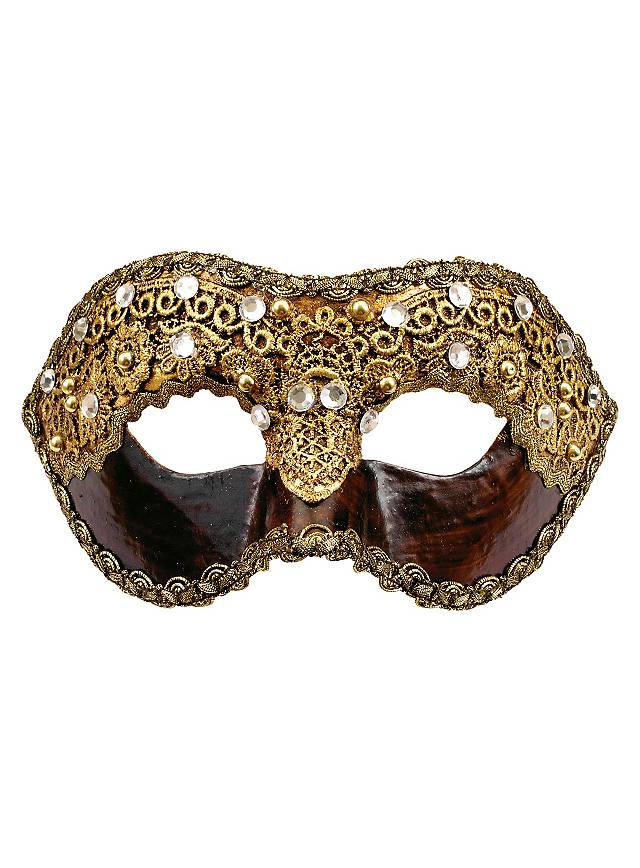 Colombina 1/2 macrame cuoio - Venetian Mask