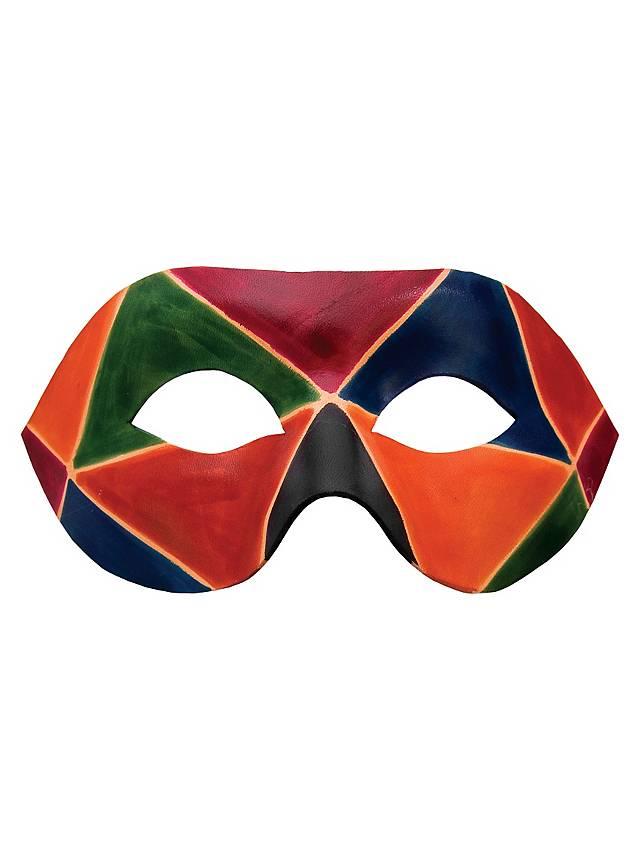 Colombina Arlecchino de cuoio Masque en cuir vénitien