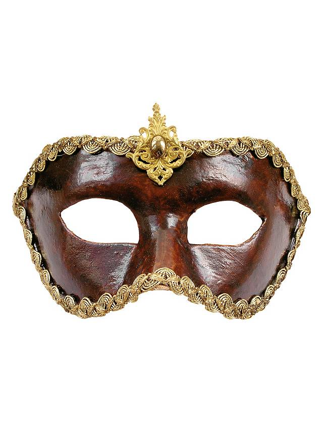 Colombina cuoio - Venezianische Maske