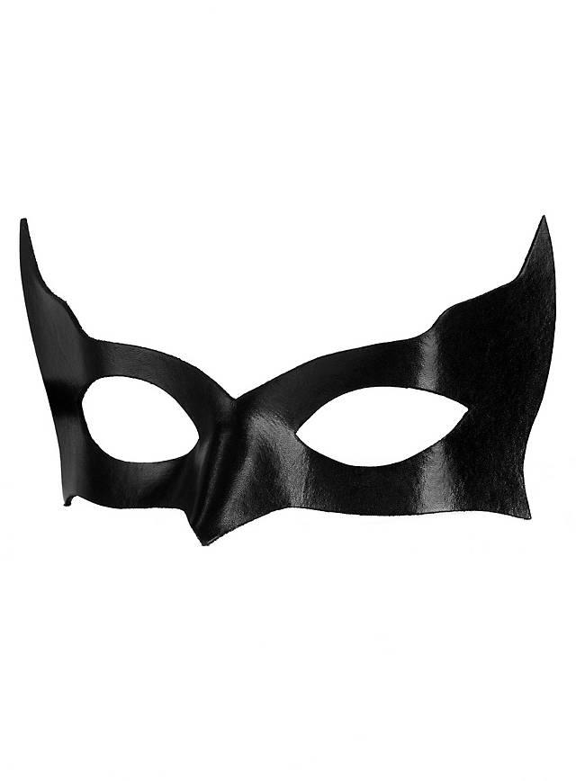 Colombina Incognito noir Masque en cuir vénitien