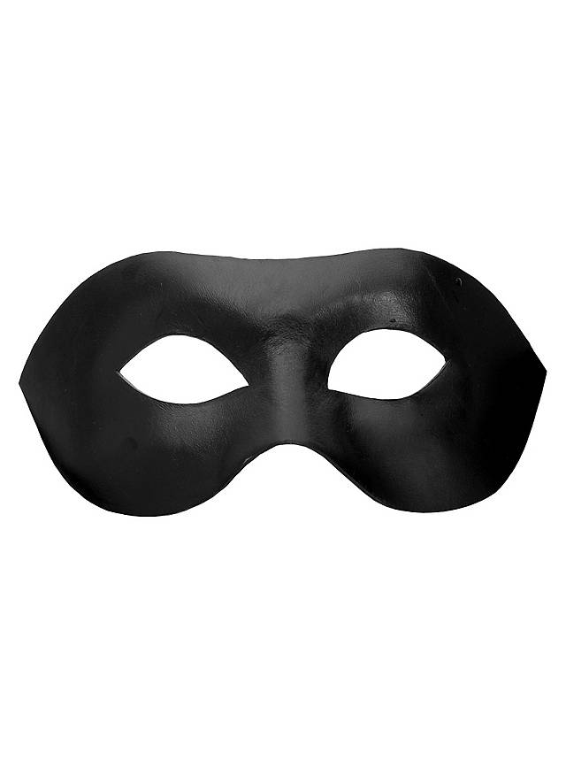 Colombina Liscia black Venetian Leather Mask