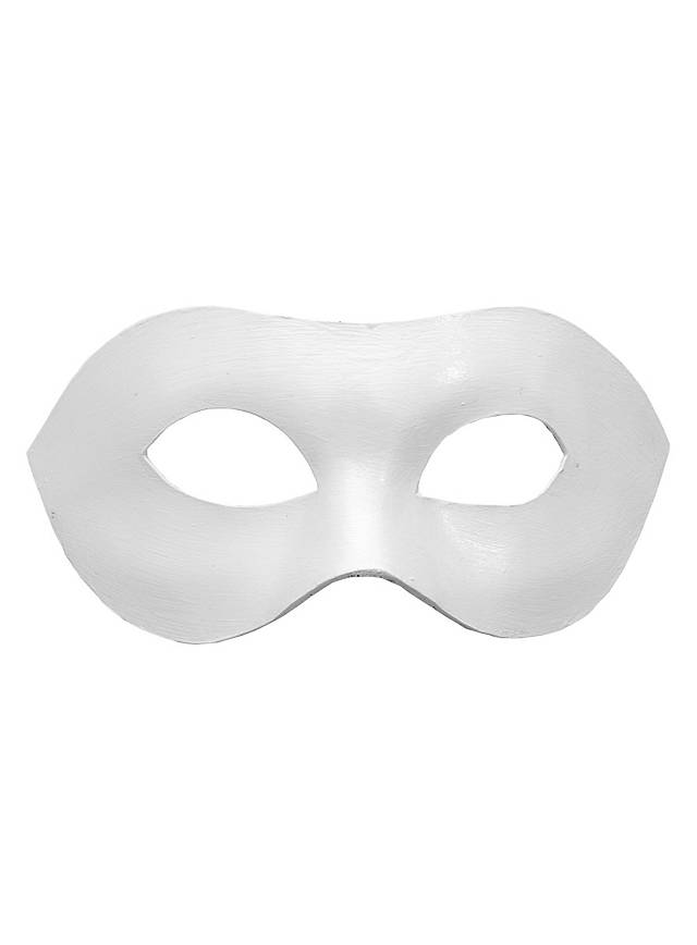 Colombina Liscia white Venetian Leather Mask for Your Black and White Party
