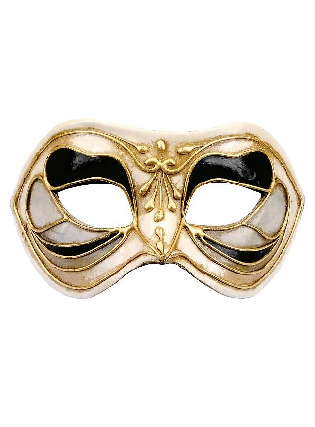 Colombina Monica nero bianco - Venetian Mask