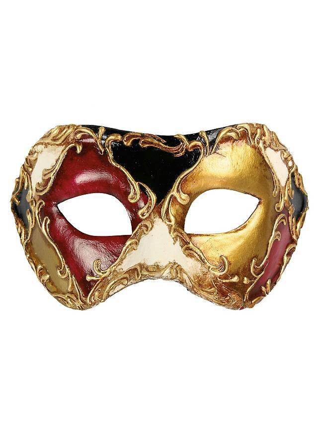 Colombina scacchi colore stucco - Venezianische Maske