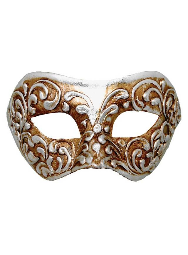 Colombina stucco argento - masque vénitien