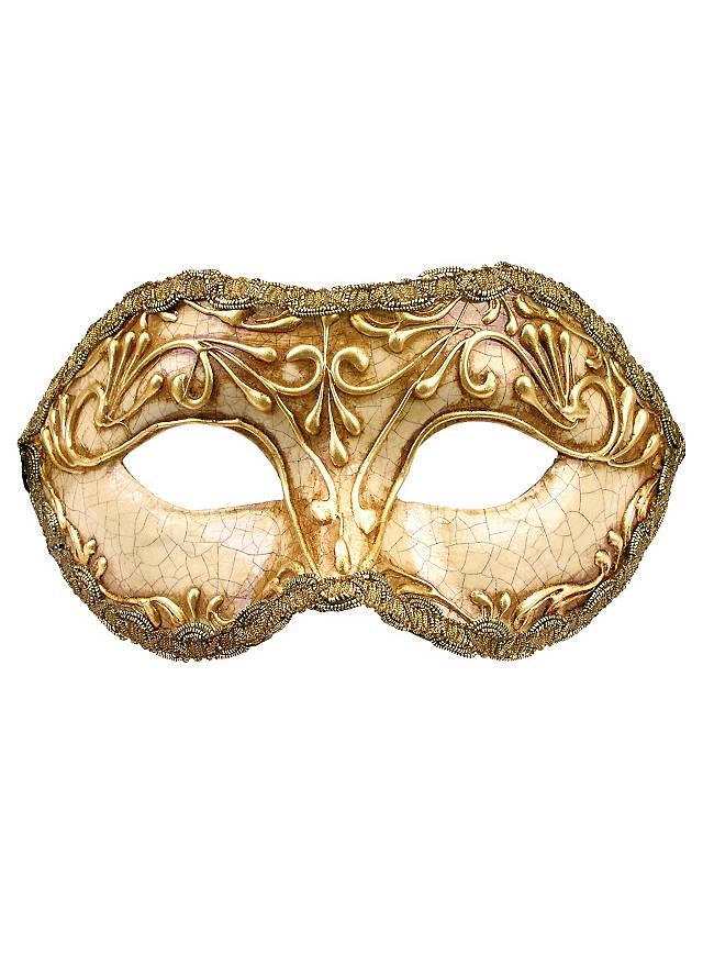 Colombina stucco craquele oro - masque vénitien
