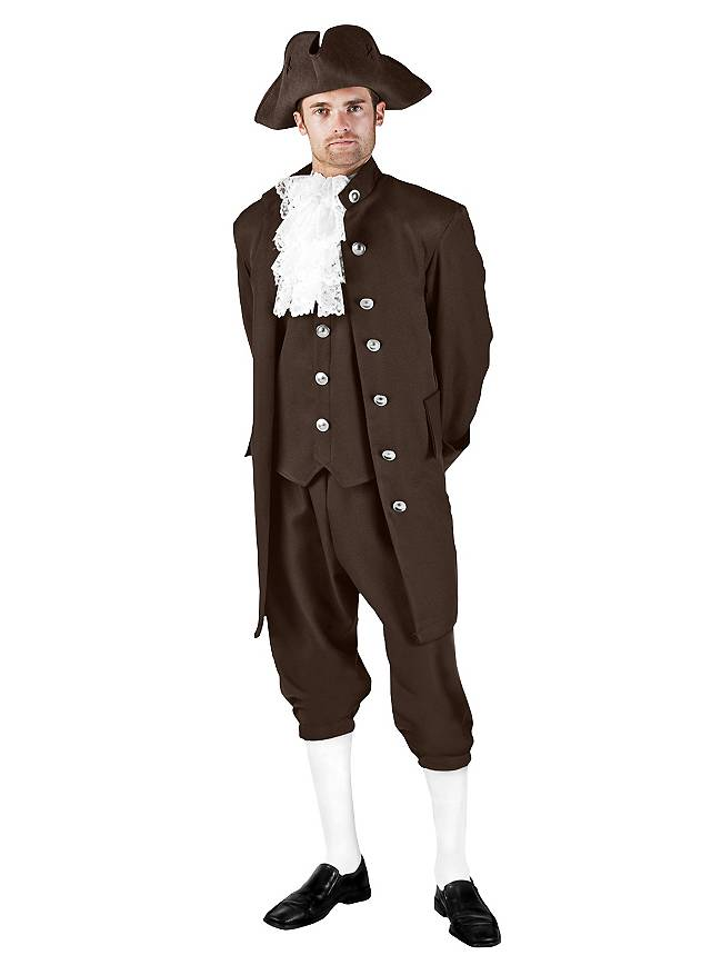 Colonial Gentleman brown Costume  sc 1 st  Maskworld : adult colonial costume  - Germanpascual.Com