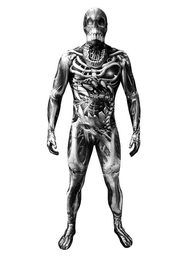 Combinaison Morphsuit monstre squelette
