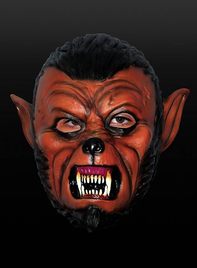 Comic Werwolf Maske aus Latex