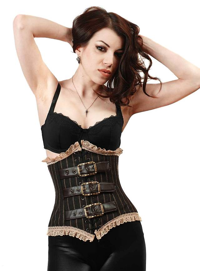 Corset with Buckles light brown