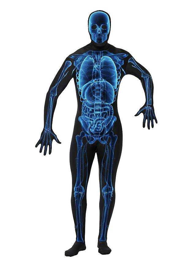 Costume intégral zentai squelette rayons X