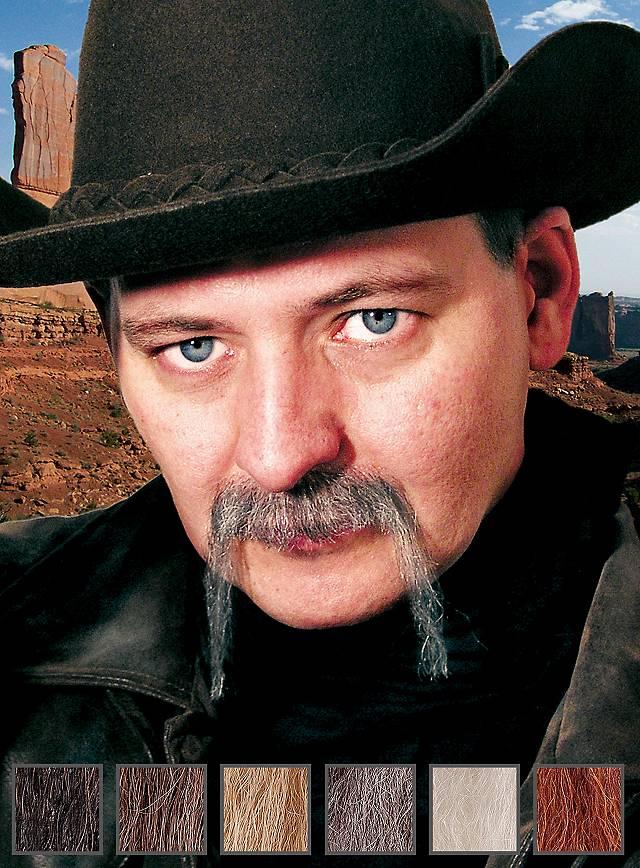 Cowboy Moustache professionnelle en poils véritables