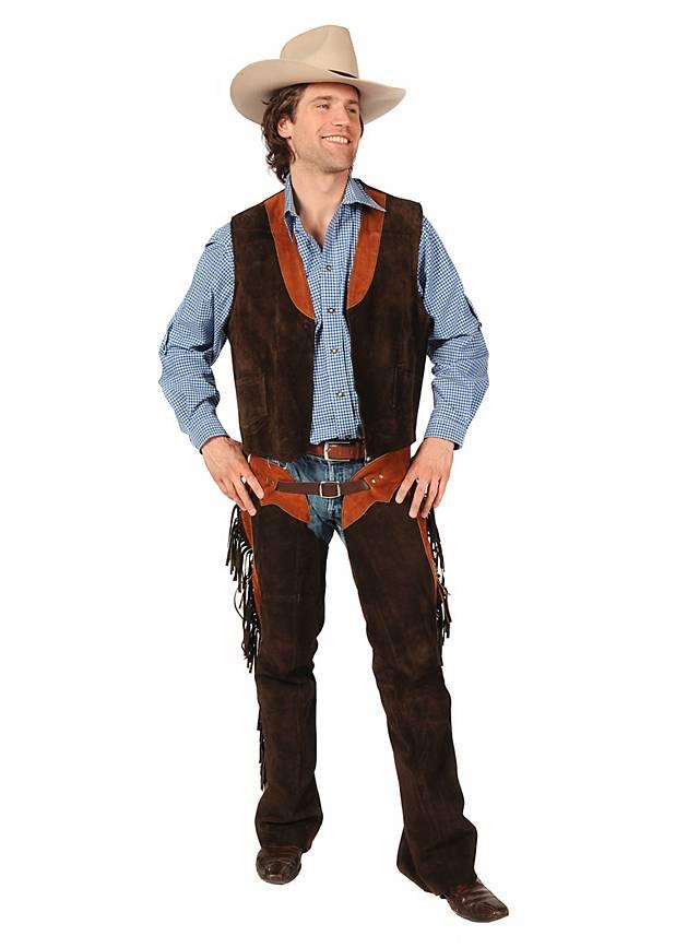 Cowboy Vest & Chaps Deluxe brown