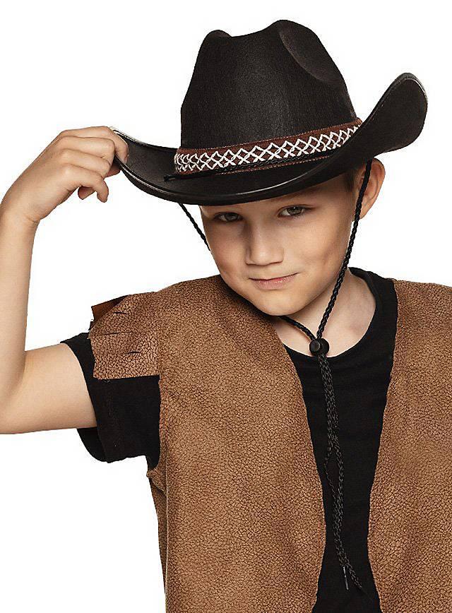 Cowboyhut für Kinder schwarz