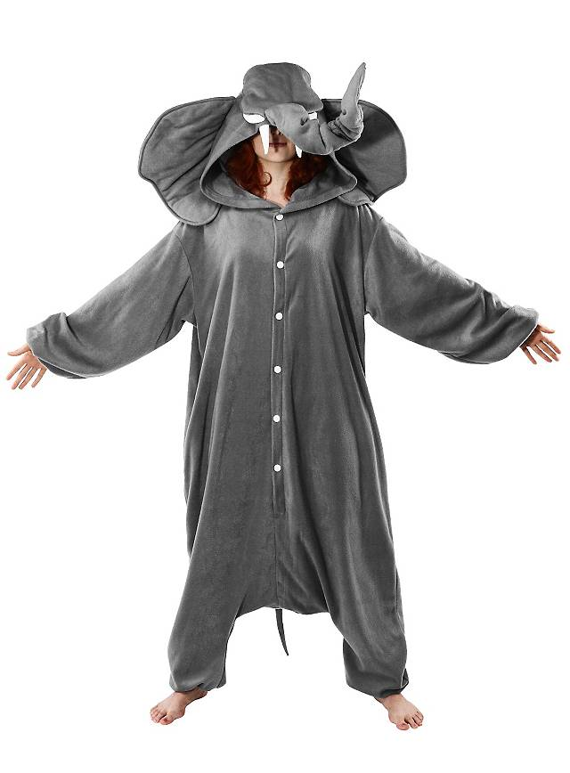 cozysuit elefant kigurumi kost m elefantenkost m onesie. Black Bedroom Furniture Sets. Home Design Ideas