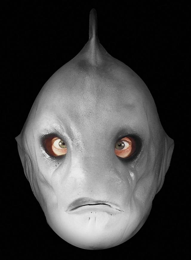 Créature requin Masque en mousse de latex